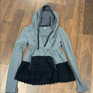 Free People gray hoodie. Size XS